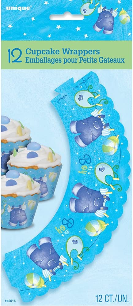 26 Hanging Blue Clothesline Baby Shower Decorations 3ct