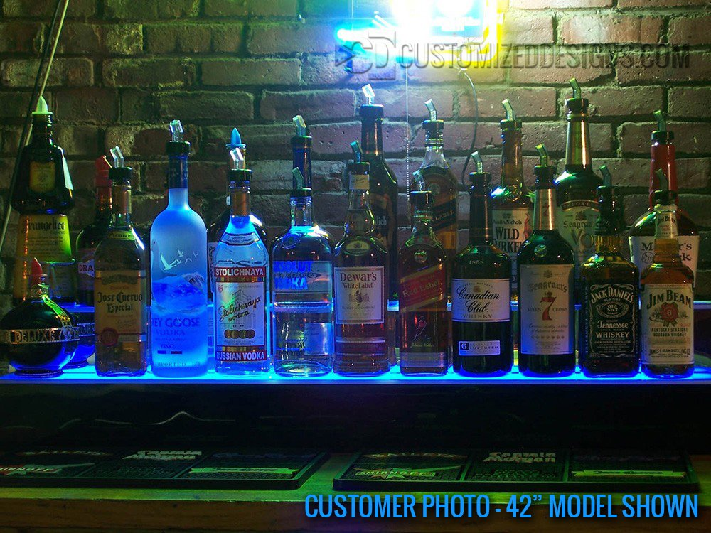 84'' 2 Step Commercial Grade LED Lighted Bottle Display - Remote Control LED Lighting by Customized Designs (Image #6)
