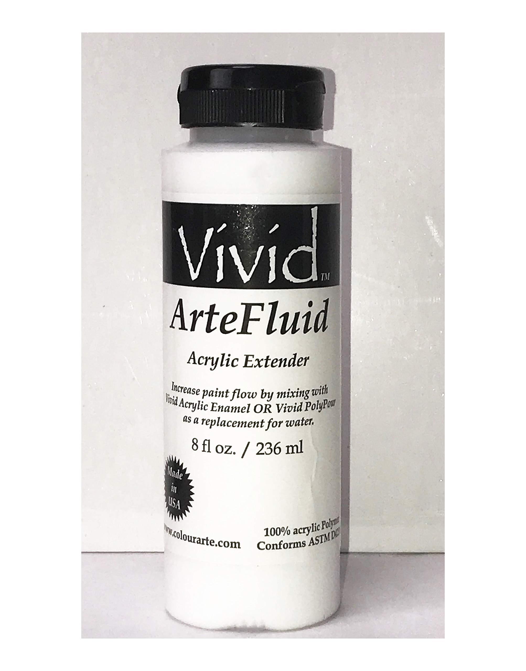 Vivid Arte-Fluid Acrylic Mixing Medium 8 oz Bottle