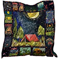 MOGOI 3D Printed Quilt, Outdoor Camping Blanket | Don't Tread ON ME Camping Quilt | Reversible Cotton Blanket for Traveling, Picnics, Beach Trips, Concerts and Home