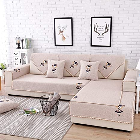 Marvelous Couch Cover,Cotton Linen Sofa Cushioning Four Seasons Universal Non Slip Minimalist  Living Room