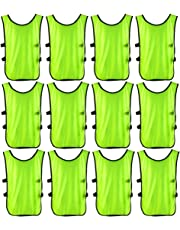 uxcell Adult Outdoor Sports Breathable Soccer Bib Volleyball Basketball Training Group Team Vest 12pcs