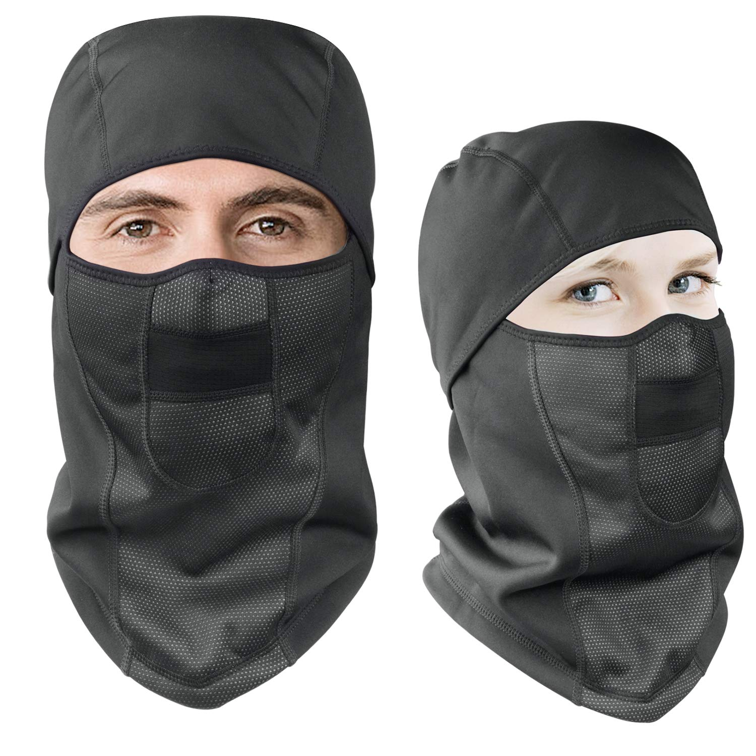 Windproof Ski Face Mask Motorcycle Balaclava Hood Fleece Mask for Camping Sport