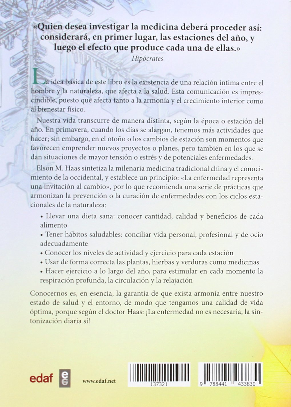 La salud y las estaciones (Ana Maria Lajusticia) (Spanish Edition): Elson M. Haas: 9788441433830: Amazon.com: Books