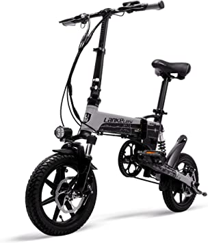 LANKELEISI Mini Bicicleta eléctrica Plegable G100, Bicicleta de ...