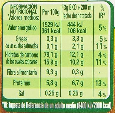 Eko - Mezcla de cereales solubles - Sabor de miel y jalea real - 150 g: Amazon.es: Alimentación y bebidas