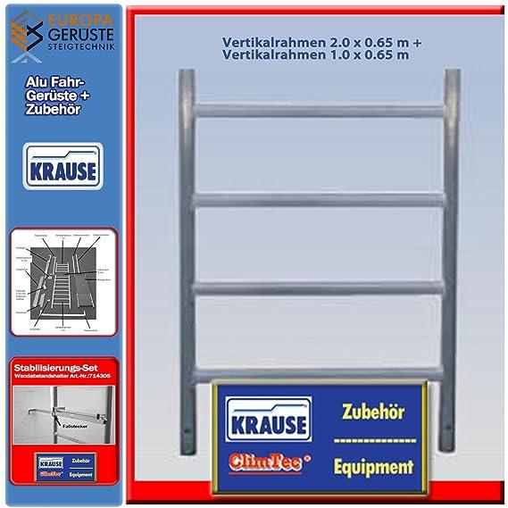 Krause ClimTec Alu Fahrger/üste Vertikalrahmen 2.0 x 0,65 m