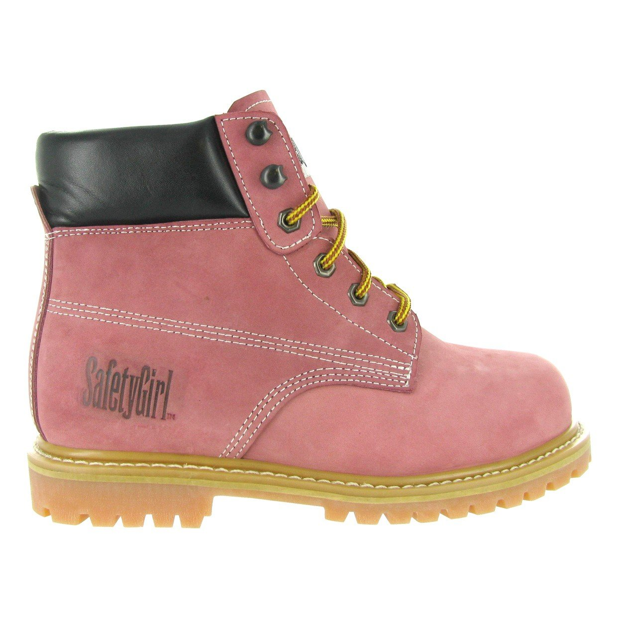 Safety Girl GS003-Lt Pink-9M Steel Toe Work Boots - Light Pink - 9M, English, Capacity, Volume, Leather, 9M, Pink () by Safety Girl (Image #5)