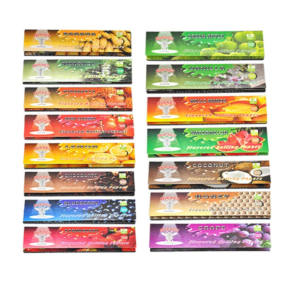 Satelliter Hemp Wraps, Hemp Rolling Papers, 15 Kinds of Fruit Flavored (110mm)(480 PC) by Satelliter