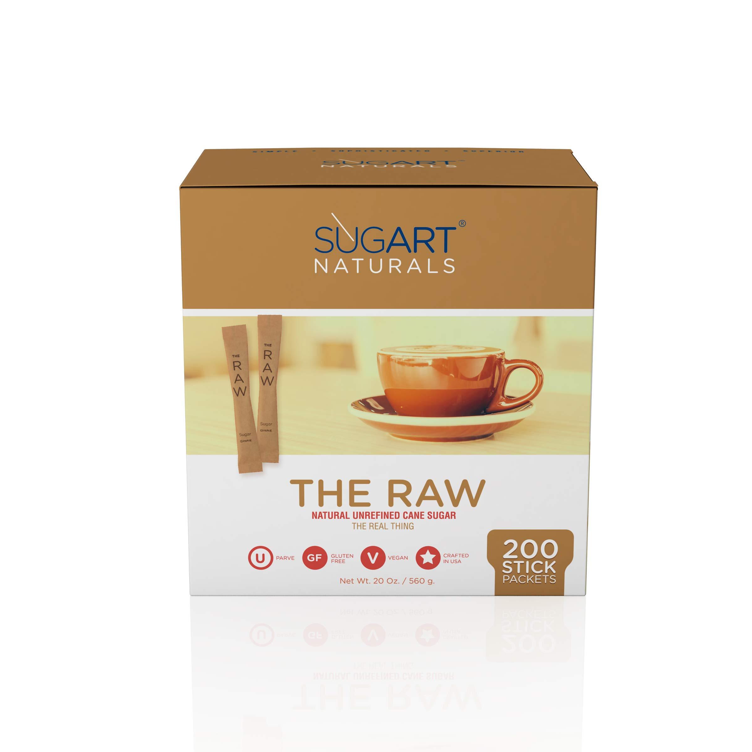 SUGART - THE RAW SUGAR - 200 Individual Serving Stick Packets - U Parve/Kosher by SUGART (Image #3)