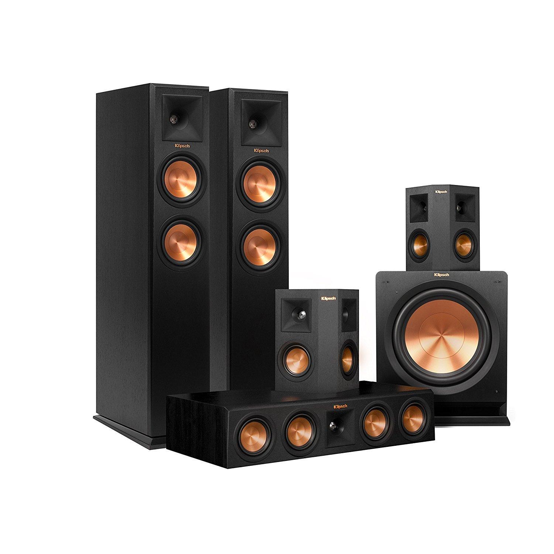 Klipsch RP-250F Home Theater System Bundle (Ebony) with Yamaha RX-A760 by Klipsch