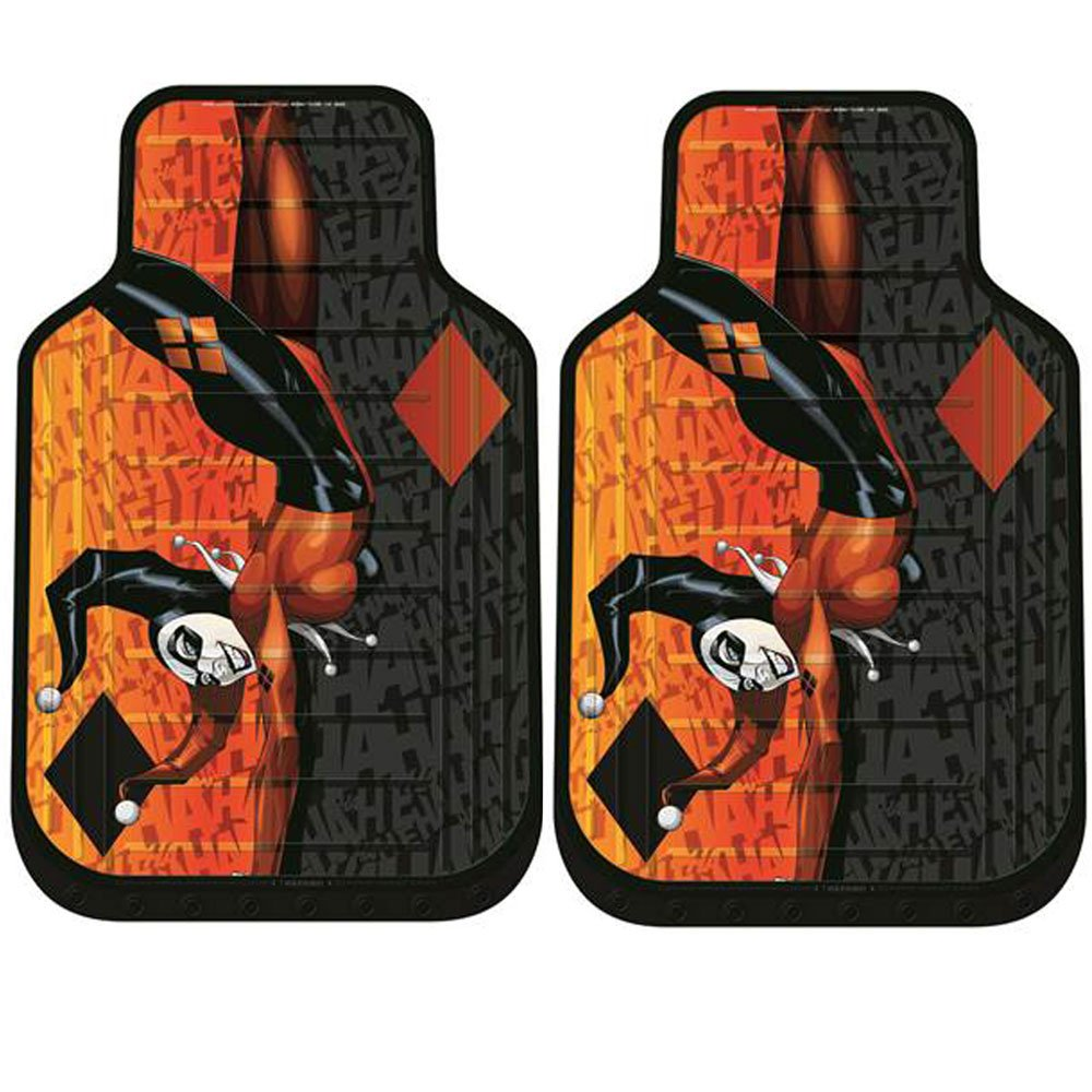 New Design 8 Pieces DC Comic Harley Quinn Car Seat Covers Floor Mats And Steering Wheel Cover Set With Travel Size Purple Slice Amazoncouk