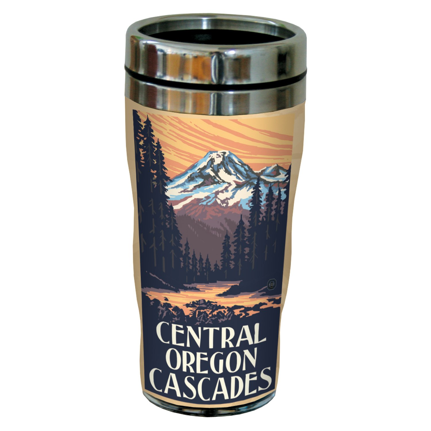 16-Ounce Multicolored Tree-Free Greetings sg23325 Vintage Central Oregon Cascades by Paul A Lanquist Stainless Steel Sip N Go Travel Tumbler