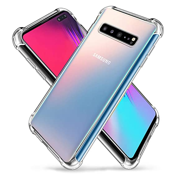 Samsung Galaxy S10 5G Case, Zeking Slim Thin Anti-Scratch Clear Flexible  TPU Silicone with Four Corner Bumper Protective Case Cover Compatible for