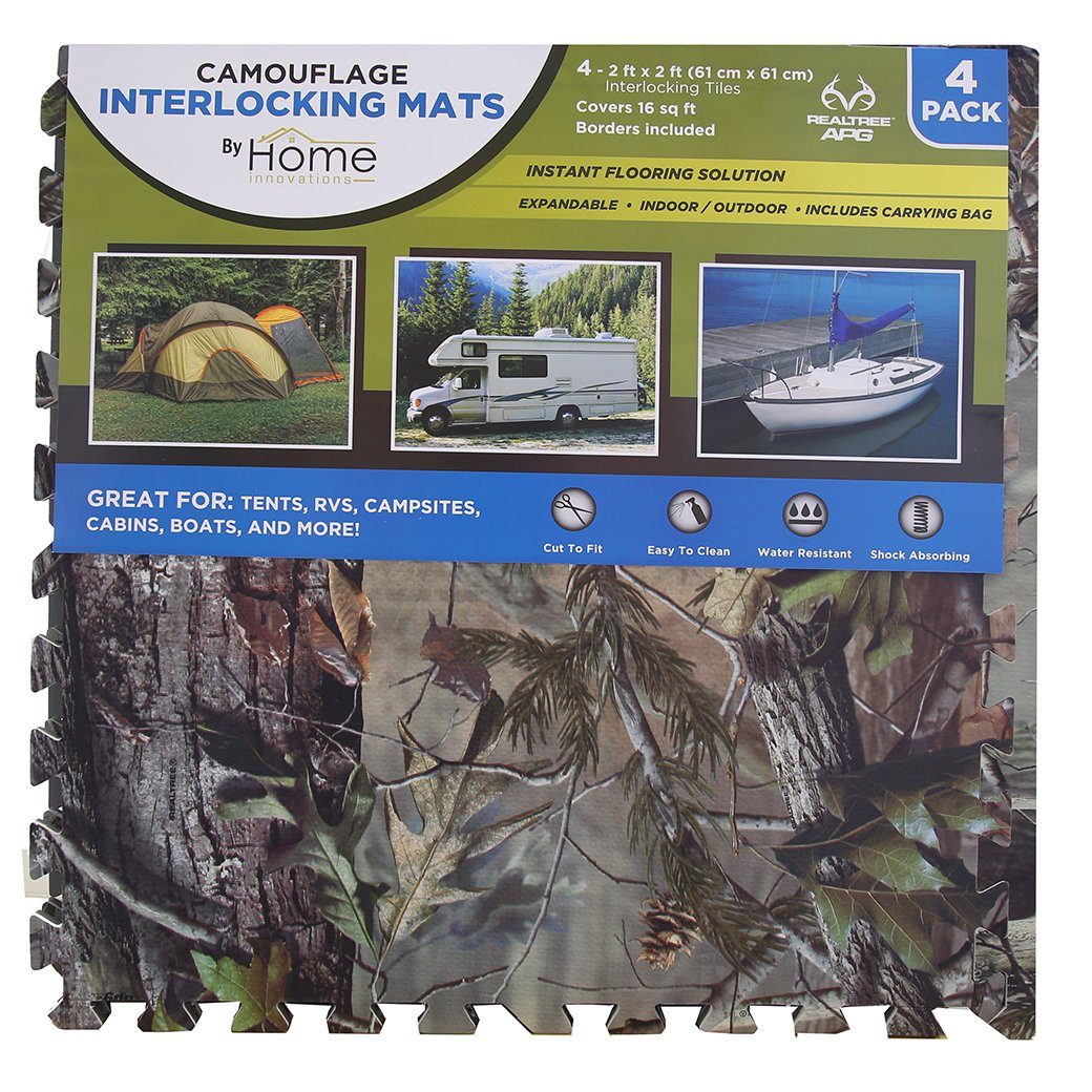 Home Innovations Anti Fatigue Interlocking Foam Tile Mats Camouflage (8 Pack)