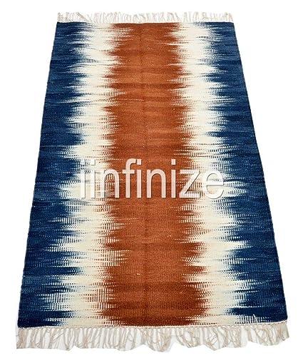 Amazon.com: Kelim 4x6 Mat, Large Yoga Carpet Throw Handmade ...
