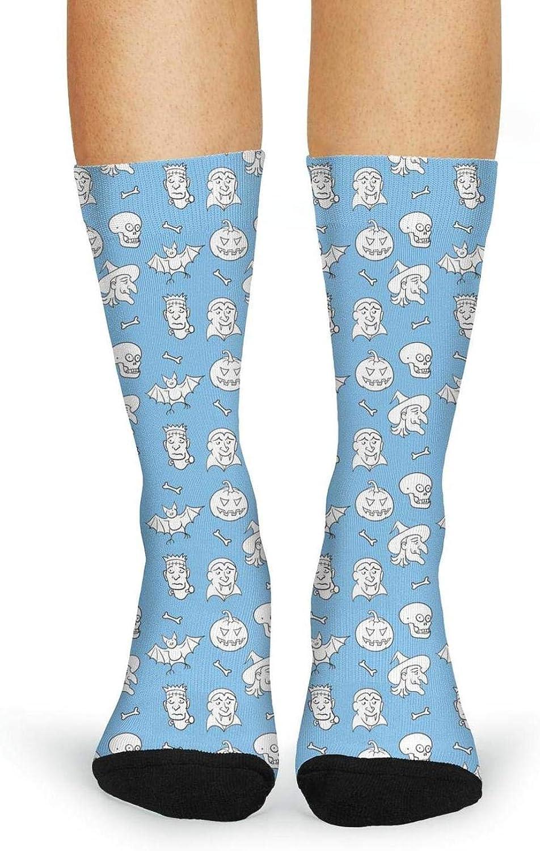 OKSDLK Happy Halloween Skull Compression Socks for Women Tube Socks Thermal Socks