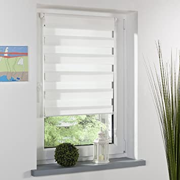 Amazon.de: Fenster Shade Jalousien, Zebra Double Layer ...