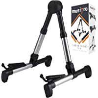 Musipro Guitar Stand for Electric and Acoustic Guitar or Bass - Strong Lightweight Fully Adjustable Folding Stands for…