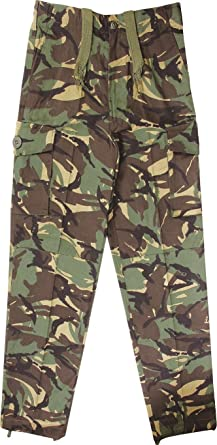 d779674a62 Kids Army Camouflage Combat Trousers - Ages 3-14 Yrs (Age 3-4): Amazon.co.uk:  Clothing