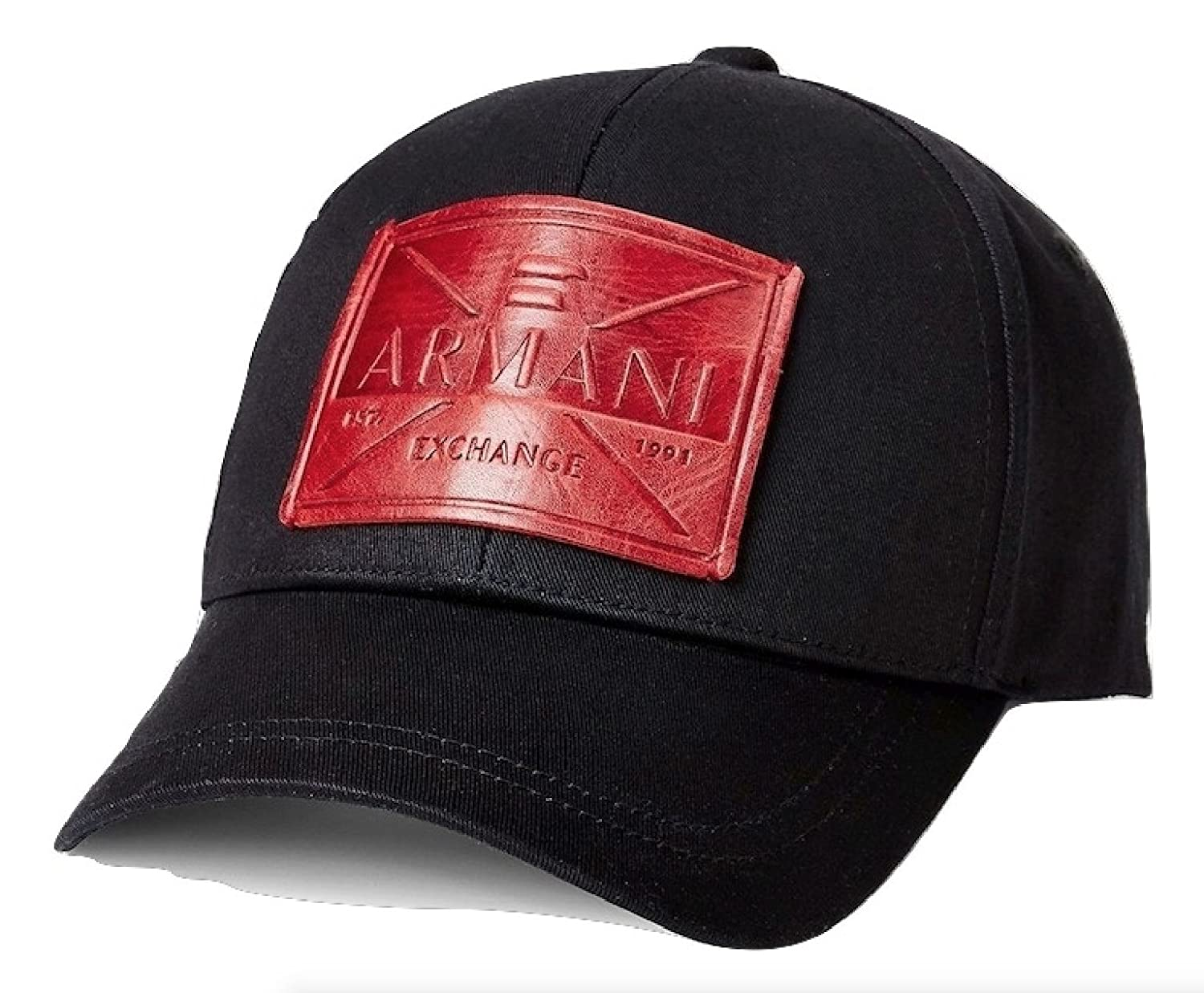 Armani Exchange AIX Eagle Patch Logo Cap, Black