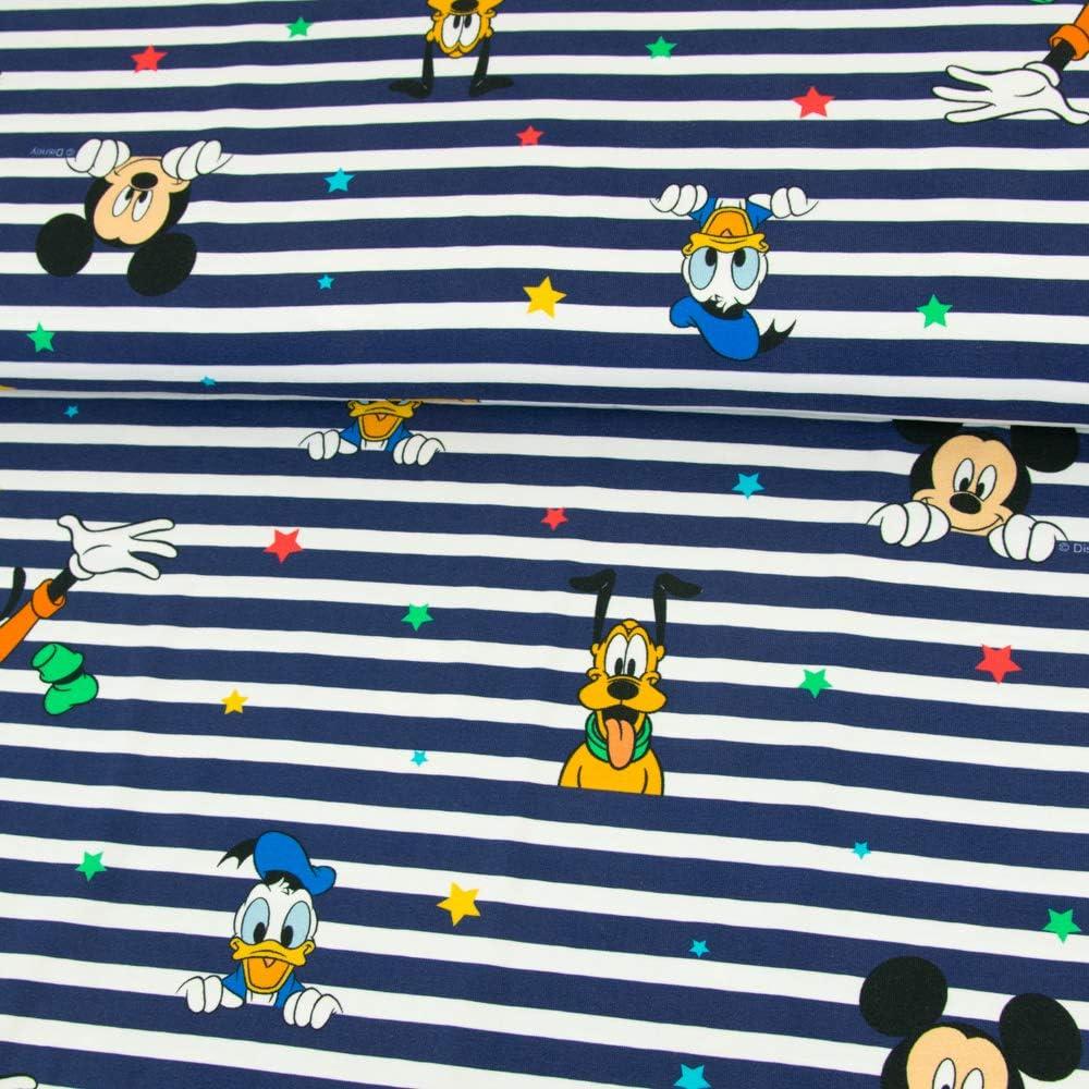Prezzo = 0,5m French Terry Tom and Jerry Blu Royal licenza stoffa tessuto per bambini