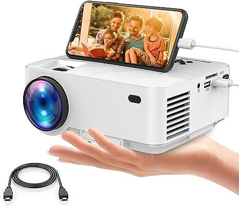 Dbpower Usb Mini Beamer 2400 Lumens Hd Projektor Amazon De