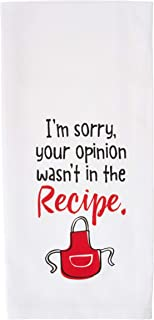 product image for Imagine Design Relatively Funny I'm Sorry Your Opinion, Heavy Weight 100% Cotton Kitchen Towel, One Size, Red/Black/White