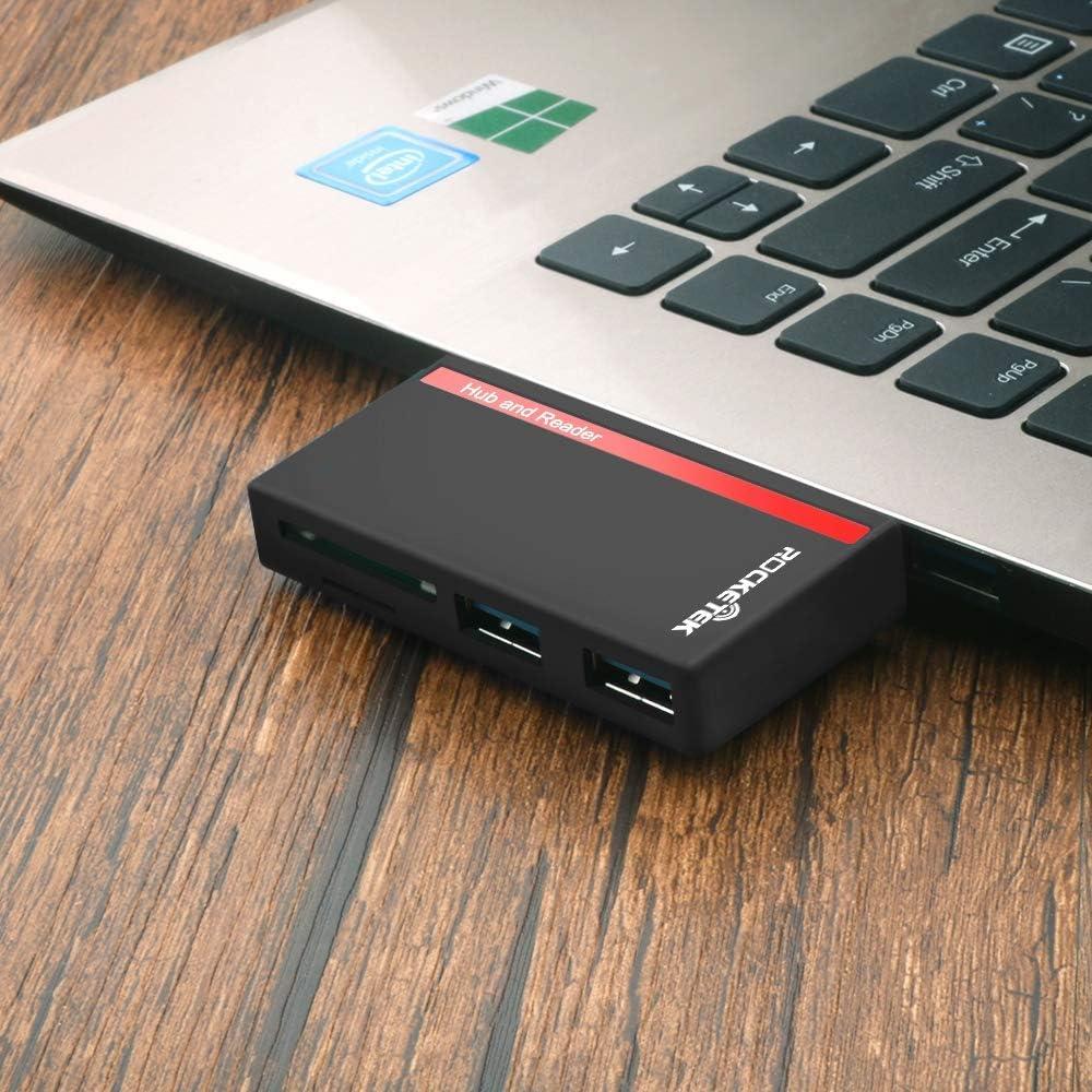 YSM Sd Card Reader USB Hub Card Reader 4-in-1 USB 3.0 Pro Hub Multi Memory Card Reader Adapter for Micro SD//TF Laptop Accessories