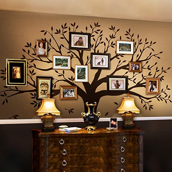 Family Tree Wall Decal By Simple Shapes (Chestnut Brown, Standard Size: 107 X 90 Inch) by Simple Shapes