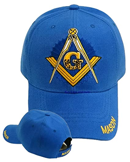 a64021610b7d5 Amazon.com  Mason Hat Masonic Blue Baseball Cap Freemason w  Free BCAH  Bumper Sticker  Sports   Outdoors