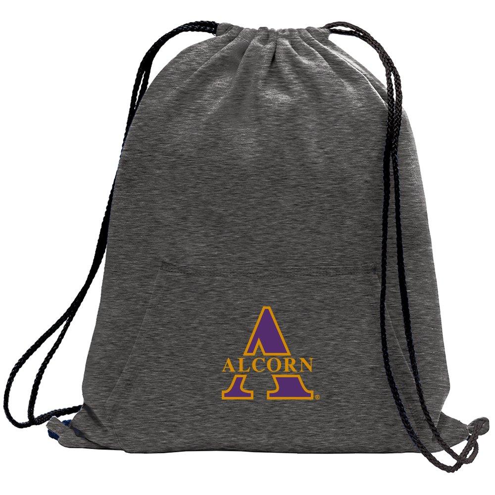 Promoversity NCAA Alcorn State Braves Adult Sweatshirt Cinch Bag,17.75'' x 14.5'',Dark Heather