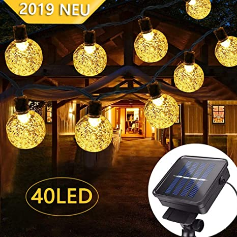 B Right 40 Led Solar Lichterkette Aussen Led Lichterkette Kristall
