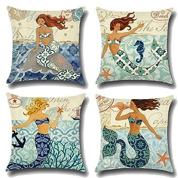 Ocean Theme Throw Pillow Case