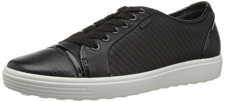 Black Cap Toe ECCO Women's Women's Soft 7 Tie Fashion Sneaker