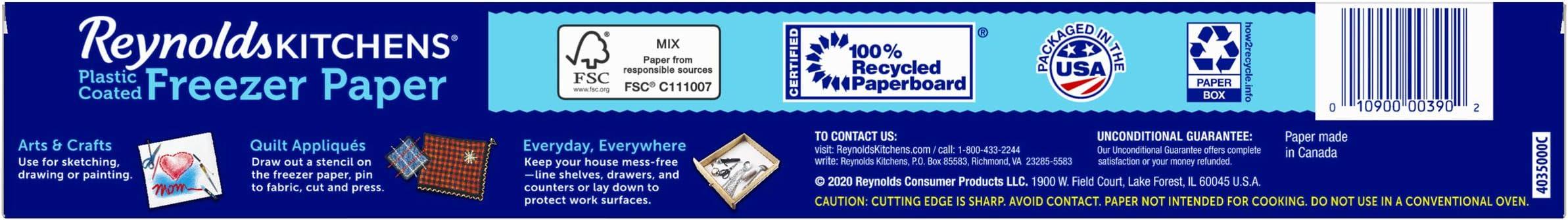 Reynolds - Papel para serigrafía (4,6 m², 12,1 m x 381 mm ...