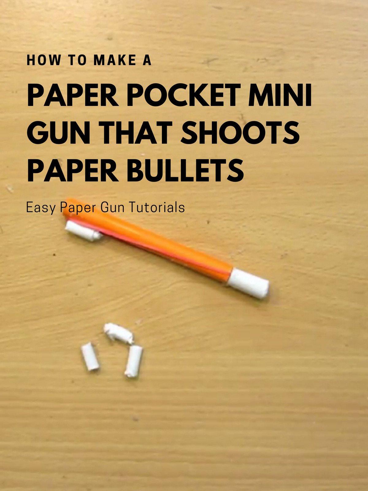 How To Make Mini Paper Guns That Shoot Paper Bullets (Easy Paper Gun) -  video dailymotion | 1600x1200