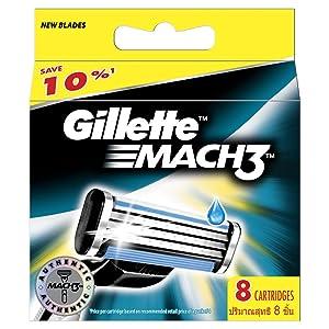 Gillette MACH3 Razor Blades - 8 Pack of Refills
