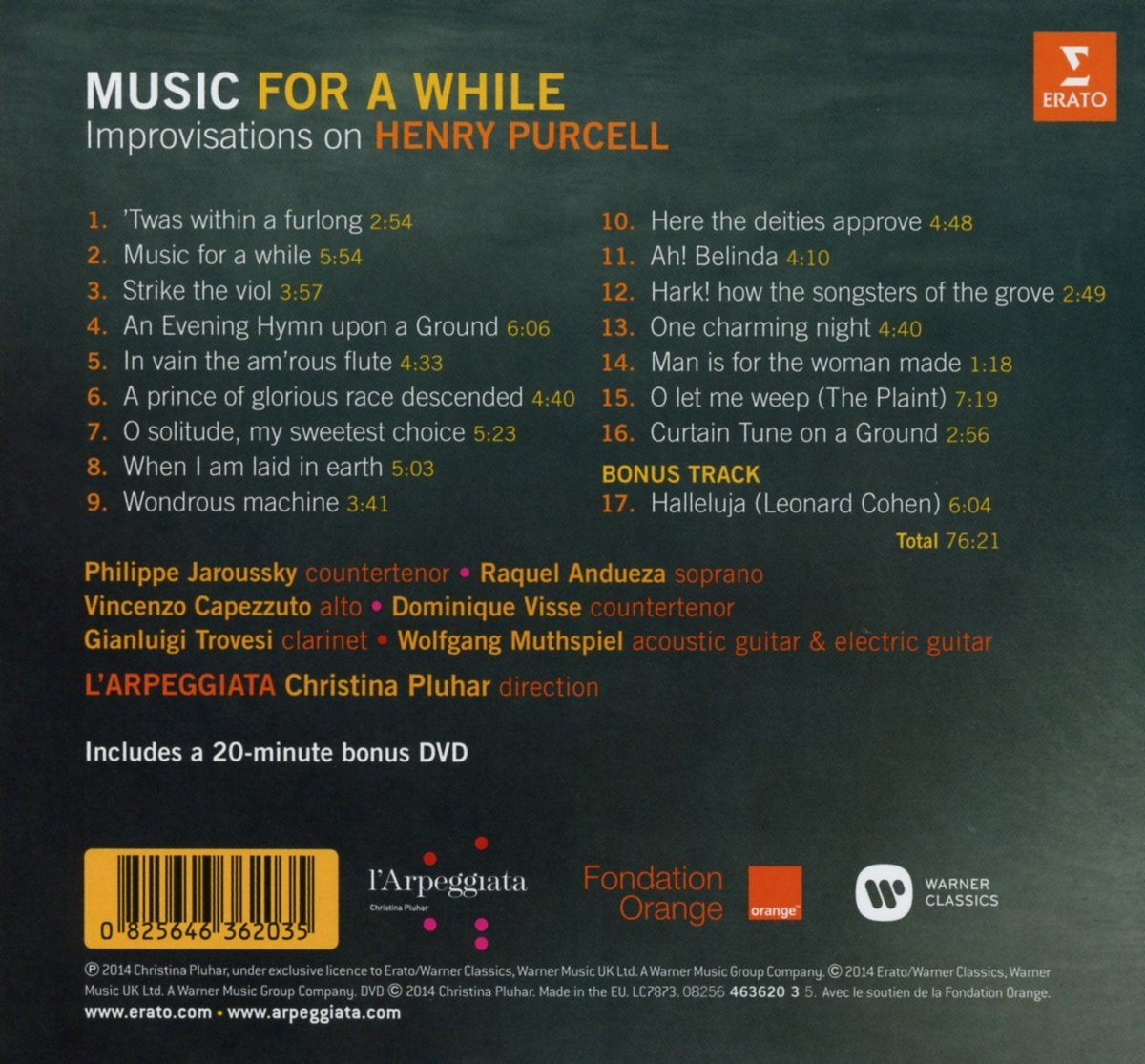 Purcell: Music For A While : Christina Pluhar LŽArpeggiata, Purcell: Amazon.es: Música