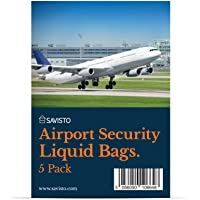Savisto Airport Security Liquids Bag [Packs of 5, 10 and 15] Resealable Clear Travel Bag - Airport Approved, Compliant with Hand Luggage Restrictions at UK & EU Airports - 20cm x 20cm Storage Capacity