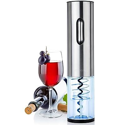 Sacacorchos Eléctrico - LOUISWARE Recargable Automático Abridor de Botellas de Vino, Acero Inoxidable Profesional Abrelatas de Vino Set con Cortador de Hoja