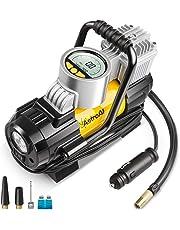 AstroAI Compresor de Aire para Coche 12V, Inflador Ruedas Coche Electrico Portatil Digital Automatico,