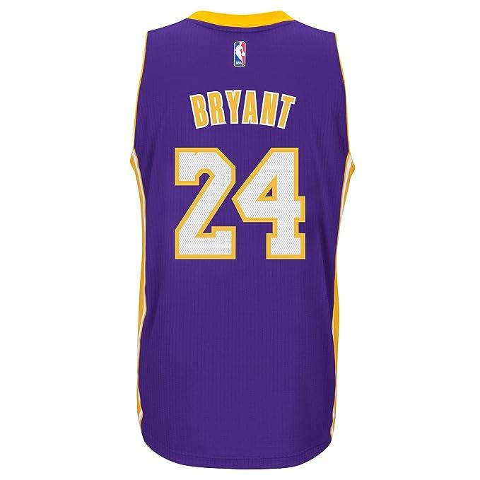 7194dce087c Amazon.com   Kobe Bryant Los Angeles Lakers Adidas Road Swingman Jersey ( Purple) Small   Sports   Outdoors