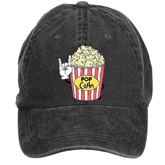 fingww Gorra de béisbol Unisex Popcorn Sports Gorras de béisbol ...