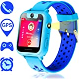 Kids Smartwatch,Touch Kids GPS Tracker Smart Watch with Camera SIM Calls Anti-lost SOS Wrist Watch for Children Girls Boys Birthday Gifts(Blue)