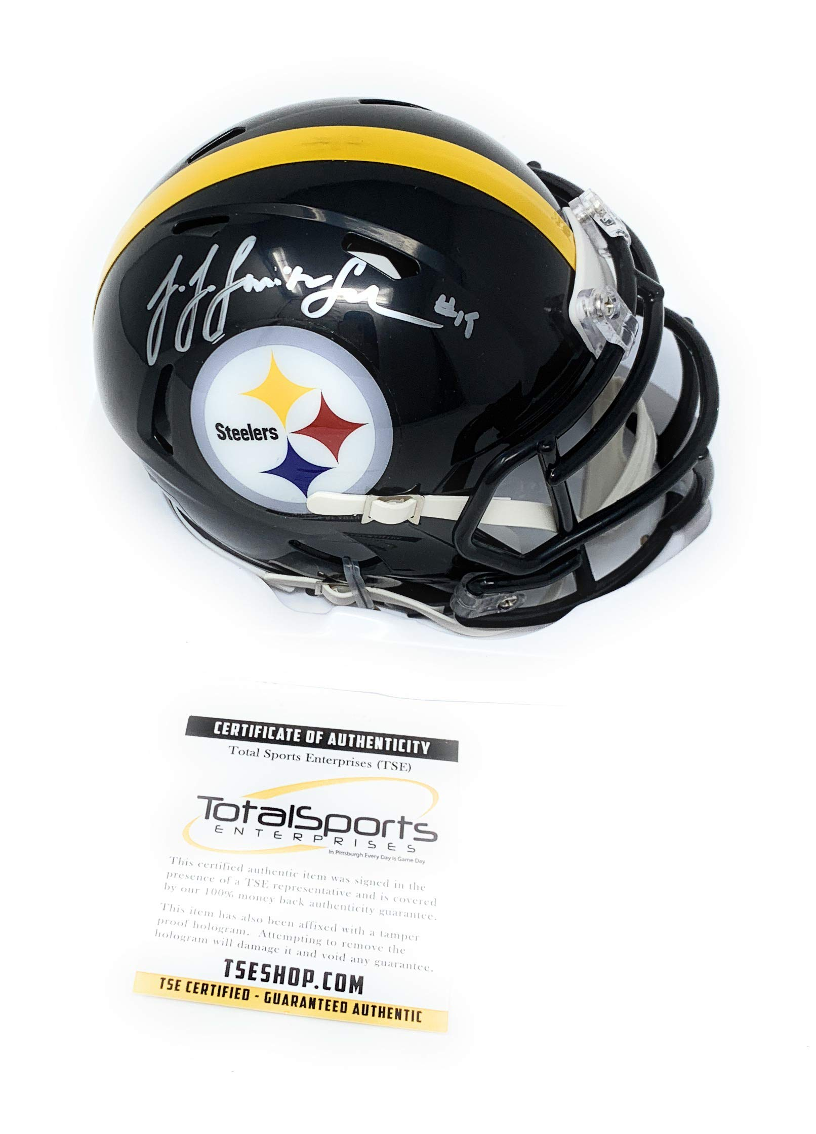 JuJu Smith Schuster Pittsburgh Steelers Signed Autograph Speed Mini Helmet Certified Authentic
