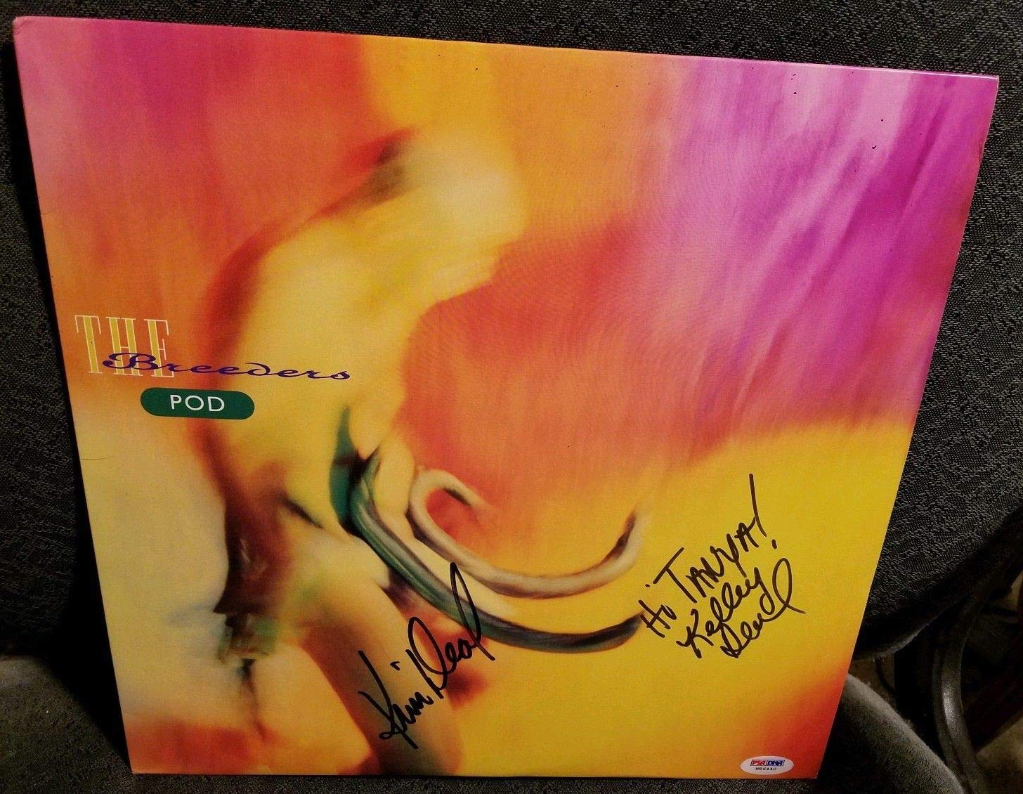 The Breeders Pod Autographed Signed Lp PSA/DNA Authentic Sticker Only Kim & Kelley Deal Autographed Signed