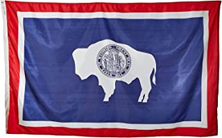 product image for Annin Flagmakers Model 146180 Wyoming Flag Nylon SolarGuard NYL-Glo, 5x8 ft, 100% Made in USA to Official State Design Specifications