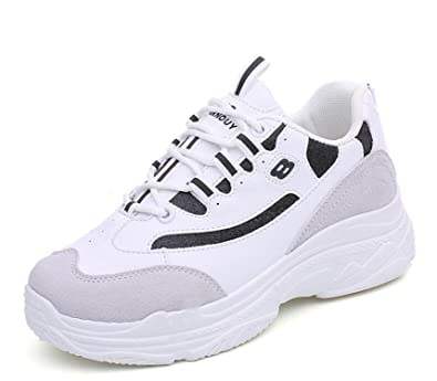 Amazon.com | Chiffoned Summer Women Sneakers White Breathable Mesh Sport Shoes Woman Outdoor Jogging Athletic Trainers | Fashion Sneakers