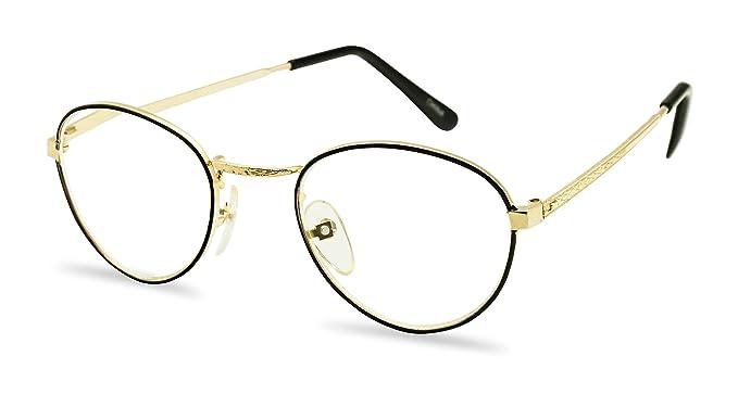 Amazoncom Small Vintage Aviator Style Metal Frame Reading Glasses